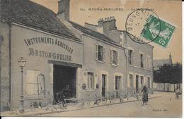 Cpa 45-MEUNG-SUR-LOIRE-La Haute Croix- BRETON GRELIER étalages Insruments Agricoles Sur Trottoir - Sonstige