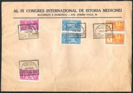ROMANIA Special Cover Of The IX International Medical Congress 1932 With Yvert 446/448 (2x) - 1918-1948 Ferdinand I., Charles II & Michel