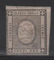 1861 Francobolli Per Stampati 2 C. MLH* - Sardegna