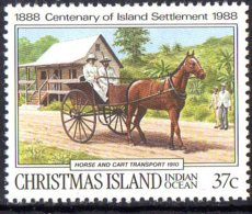 1988,Christmas Island, Cheval, Horse, Transport - Christmas Island