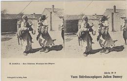 BISKRA - Bon Chkions - Musique Des N....s - Série N°9 - Vues Stéréoscopiques Julien Damois - Algeria