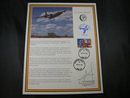 "BELG.1993 Militaire Herdenkingskaart "" 15 Wing Luchttransport "" Carte Commémorative Militaire - FDC"
