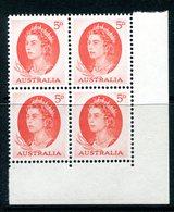 Australia 1963-65 QEII Definitives - 5d Red - Block Of 4 MNH (SG 354c) - 1952-65 Elizabeth II : Pre-Decimals