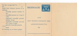 Nederland - 1937 - 4 Cent Lebeau, Arbeidslijst Briefkaart G18 - Ongebruikt - Met Aanhangsel - Ganzsachen