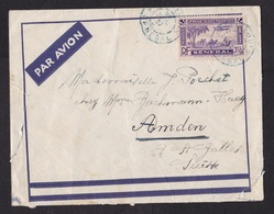 French West Africa AOF: Airmail Cover St Louis Senegal To Switzerland, 1937, 1 Stamp, Camel, Airplane (damaged See Scan) - A.O.F. (1934-1959)