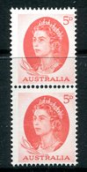 Australia 1963-65 QEII Definitives - 5d Red - Coil Pair MNH (SG 354ca) - 1952-65 Elizabeth II : Pre-Decimals