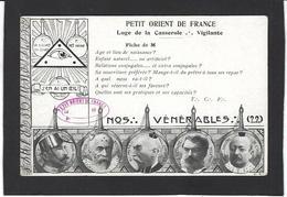 CPA Franc Maçonnerie Masonic Maçonnique Non Circulé Satirique Caricature - Filosofia & Pensatori