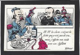 CPA Franc Maçonnerie Masonic Maçonnique Non Circulé Satirique Caricature Absinthe Siphon - Filosofia & Pensatori