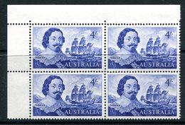 Australia 1963-65 Navigators - 4/- Tasman - Block Of 4 LHM (SG 355) - 1952-65 Elizabeth II : Pre-Decimals