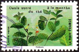 Oblitération Cachet à Date Sur Autoadhésif De France N° 1297 - Le Goût - Oasis Sucré Du Thé à La Menthe - France