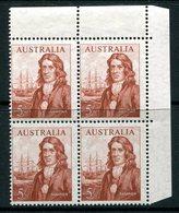 Australia 1963-65 Navigators - 5/- Dampier - Block Of 4 LHM (SG 356) - 1952-65 Elizabeth II : Pre-Decimals