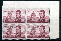 Australia 1963-65 Navigators - 10/- Flinders - Block Of 4 MNH (SG 358) - 1952-65 Elizabeth II : Pre-Decimals