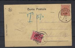 N°TX13A GESTEMPELD OP KAART Dinant 1919 COB € +30,00 - Taxes
