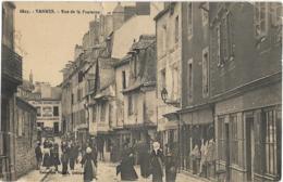 D56 - VANNES - RUE DE LA FONTAINE -Nombreuses Personnes-Peinture/Vitrerie-Drougard Débit-Sellerie/Bourrellerie Batard - Vannes