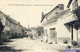 12 - Salles-Courbatiers - Avenue De La Gare Et Postes - Andere Gemeenten
