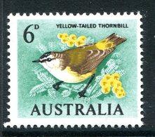 Australia 1964-65 Birds - 6d Yellow-tailed Thornbill MNH (SG 363) - 1952-65 Elizabeth II : Pre-Decimals