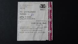 Germany - Ticket - Mecklenburgische Bäderbahn MOLLI GmbH - Steilküste-Bad Doberan - Bahn
