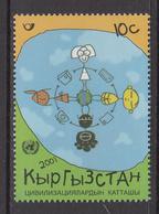 2001 Kyrgyzstan Dialogue Among Civilizations  Complete Set Of 1 MNH - Kirgizië