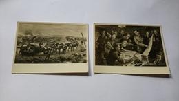 Munchen Haus Der Deutschen Kunst Palmié Et Bohme 2 Tableaux Ww2 Guerre Militaire - Peintures & Tableaux