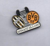 Finale Coppa UEFA Champions League 1996-199 Juve BVB Monaco 28/5/1997 BiancoNero Football Pins Juventus Ufficiale - Calcio