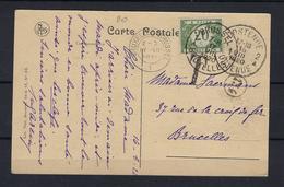 N°TX28 GESTEMPELD OP KAART Oostende 1920 COB € +10,00 - Covers