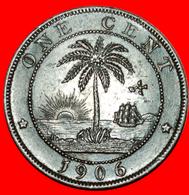 √ GREAT BRITAIN (1896-1906): LIBERIA ★ 1 CENT 1906H! LOW START ★ NO RESERVE! - Liberia