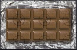 """CHOCOLAT SUISSE 2001 SBK N° 1124  """" CHOCO SUISSE""""  En Feuille Complète Obl. Centrale 1er Jour - Blocks & Sheetlets & Panes"""