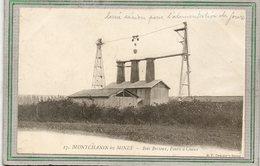 CPA - MONTCHANIN-les-MINES (71) - Aspect Des Fours à Chaux à Bois Bretoux Avec Le Système De Lorrie Aérien En 1900 - Autres Communes