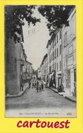 CPA SOLLIES PONT -83   La Grande Rue Animée  ֎ 18/08 /1916 - Sollies Pont