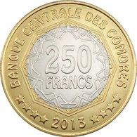 Comoros  250 Francs 2013. 30 Years Of Central Bank. Coin UNC Km21 - Comoros