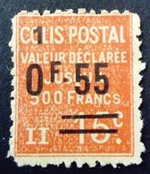 France 1926 Colis Postaux Valeur Déclarée Surchargé Overprinted Yvert 58 (*) MNG - Neufs