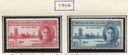13620 ILES SALOMON Collection Vendue Par Page  N° 71/2, 81/2, Taxe 1   *    1941-56    B/TB - British Solomon Islands (...-1978)