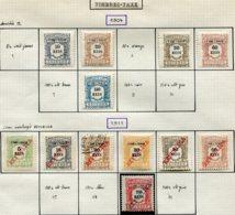 13609 SAINT-THOMAS Et PRINCE Collection Vendue Par Page Taxe 2/3, 5/6, 8, 11/6, 19 */(*)/ °   1904-11    TB - St. Thomas & Prince