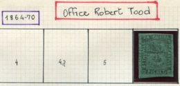 13611 SAINT-THOMAS La GUAIRA (Office Robert Tood) Collection Vendue Par Page  N° 6 *    1864-70    B/TB - Denmark (West Indies)