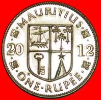 + SHIP (1987-2016): MAURITIUS ★ 1 RUPEE 2012 MINT LUSTER! LOW START ★ NO RESERVE! - Mauritius