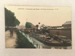 LESDINS - CROISEMENT DES RAMES - LE TOUEUR EN MARCHE - Kettingsleper - Saint Quentin