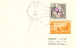 Antimony 84712 1985 4-bar  1921-1985  Postcard  Philatelic. - United States
