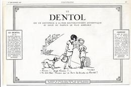 1927 Dentifrice Le Dentol Illustrateur Poulbot - Location De Films Pour Pathé Baby Weick à St Dié - Train Bleu Hornby - Pubblicitari