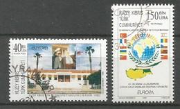 Türkisch-Zypern  1998  Mi.Nr. 473 / 474 , EUROPA CEPT - Nationale Feste Und Feiertage - Gestempelt / Fine Used / (o) - 1998