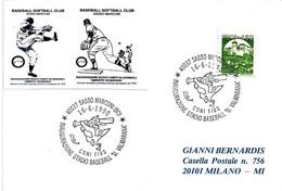ITALIA - 1990 SASSO MARCONI (BO) Inaugurazione Stadio Baseball U.Valmarana - Baseball