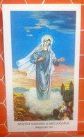 297  Ed.G.Mi Nostra Signora Medjugorje SANTINO Con Preghiera - Santini