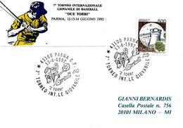 """ITALIA - 1992 PARMA 7° Torneo Internazionale Giovanile Di Baseball """"2 Torri"""" - Baseball"""
