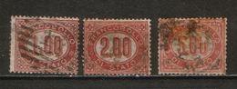 Italy 1875 Servizio Di Stato, Michel # 5-7, CV 130 Euro - Dienstpost