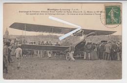 NO 260 /77 MONTIGNY - LENCOUP /  AVIATION. Atterrissage Aviateur Allemand Ernest Stoeffler Sur Biplan Albatros. Animée - Francia