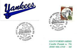 ITALIA - 1994 SAN GIOVANNI PERSICETO (BO) 40° Fondazione Società Di Baseball Softball YANKEES - Baseball