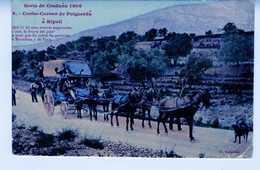 ESPAGNE COCHE CORREO DE PUIGCERDA A RIPOLL  TC126 - Poste & Facteurs