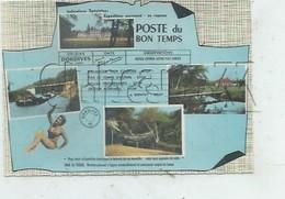 """Dordives (45) : 5 Vues Du Bourg Dans Petit Bleu Télégramme Dont Péniche """"Jointly"""" En 1964 (animé) GF. - Dordives"""