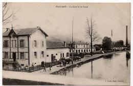 Frouard : La Gare Et Le Canal (Editeur J. Rozet, Bazar Lorrain) - Frouard