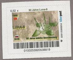 Privatpost - Biberpost - Weltraum -  50 Jahre Luna-9 - BRD