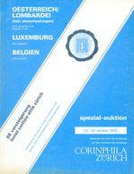 68. Corinphila Briefmarken Auktion 1982 - Belgien, Luxemburg + Österreich / Lombardei - Auktionskataloge